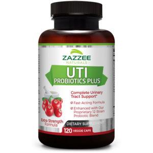Zazzee Naturals UTI Probiotics Plus 120 Veg Capsules