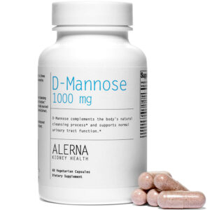 Alerna Kidney Health D-Mannose, Cranberry 60 Veg Caps