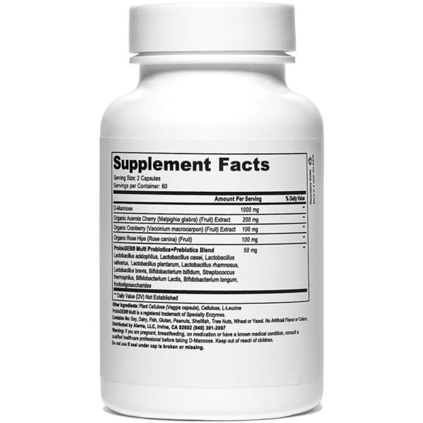 Alerna Kidney Health D-Mannose +Probiotics 60 Caps