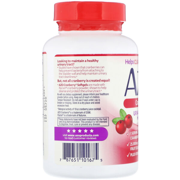 AZO Urinary Tract Health Cranberry 100-120 Softgels