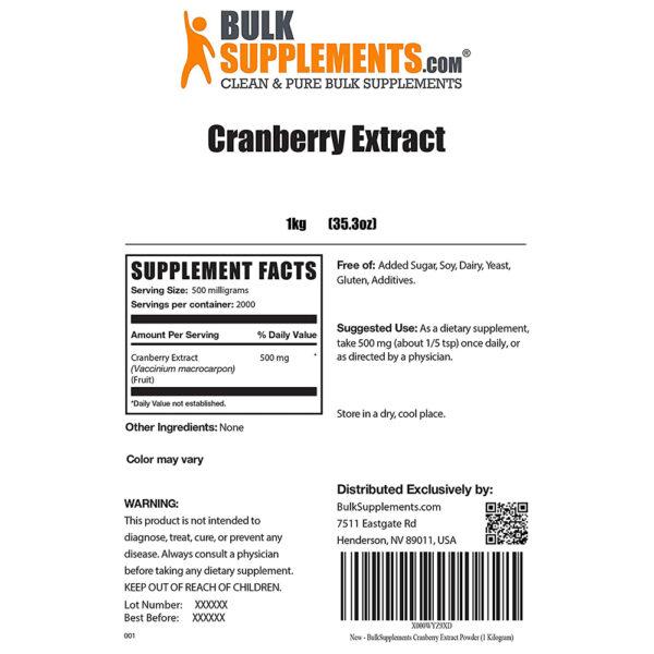 BulkSupplements Cranberry Extract 3.5 oz. - 55 lbs.