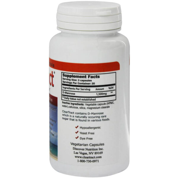 ClearTract Urinary Tract D-Mannose 60 V-Capsules