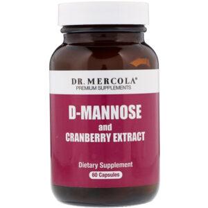 Dr. Mercola D-Mannose + Organic Cranberry 60 Capsules
