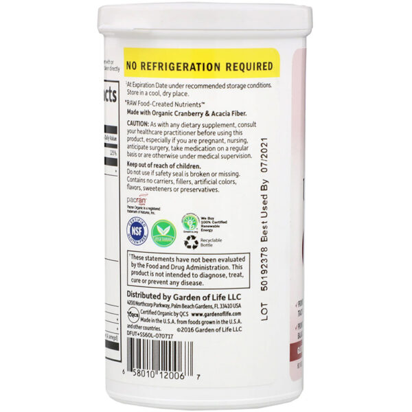Garden of Life Probiotics Cranberry 50 Billion CFU 60 Caps