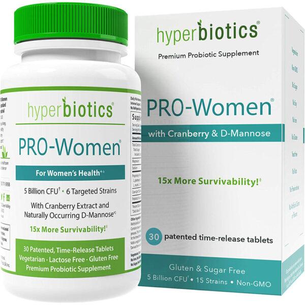 Hyperbiotics PRO-Women Probiotics Cranberry 30-60 Tabs