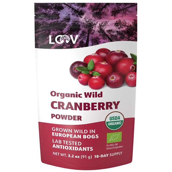 LOOV 100% Wild Organic Cranberry Powder 3.2 - 6 oz.