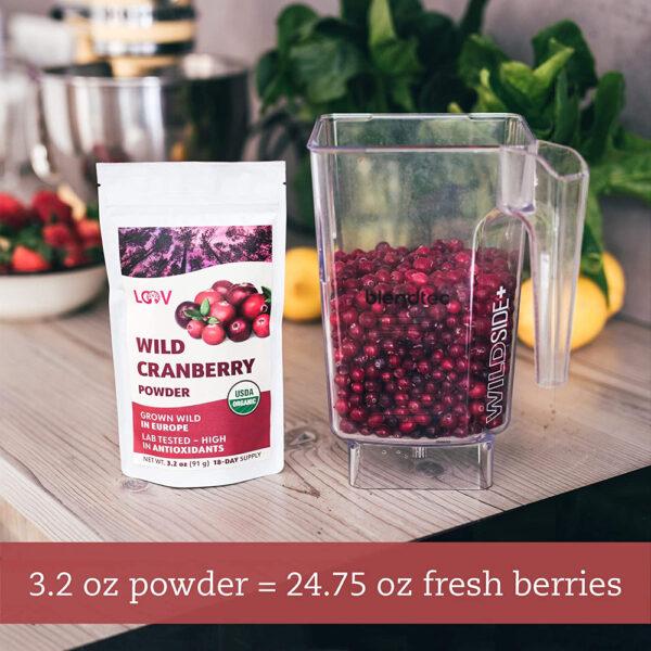LOOV 100% Wild Organic Cranberry Powder 3.2 oz.
