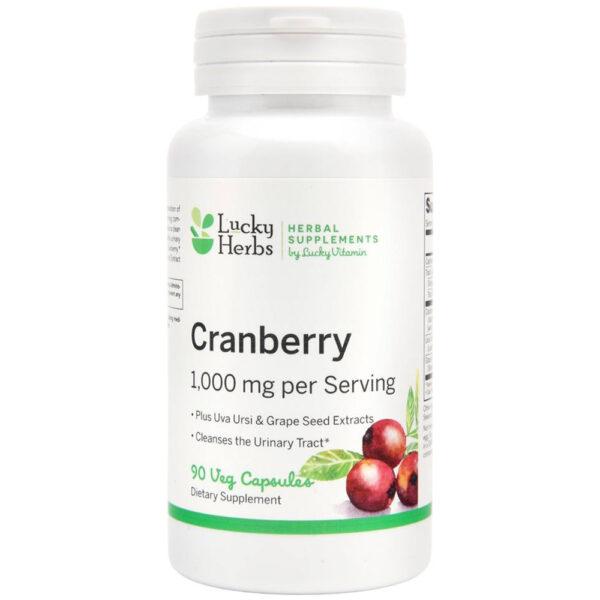 Lucky Vitamin Cranberry + Uva Ursi 90 Veg Capsules