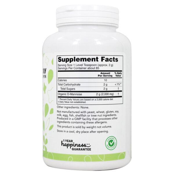 Lucky Vitamin Organic D-Mannose Powder Non-GMO 6 oz