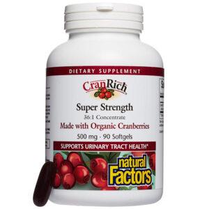 Natural Factors CranRich Organic Cranberry 90 Softgels