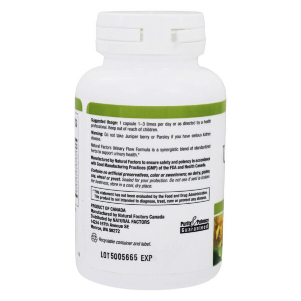 Natural Factors Urinary Flow Formula 90 Capsules
