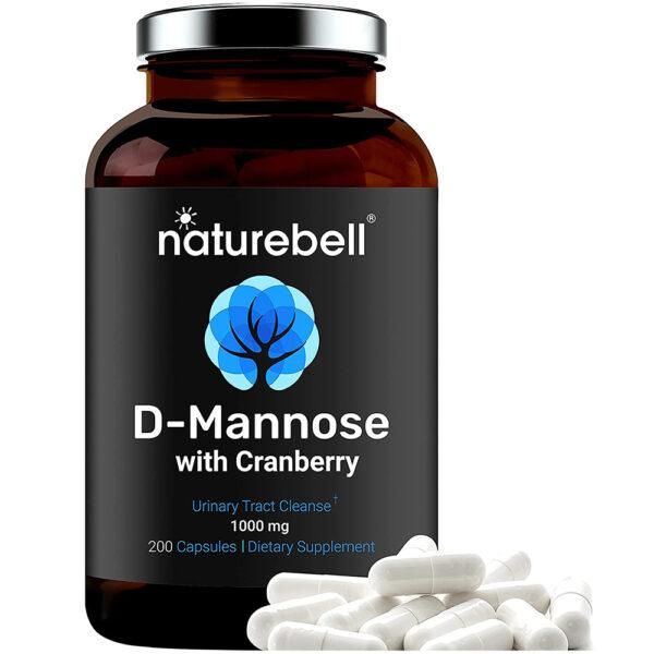 Nature Bell D-Mannose Cranberry Caps 200 Capsules