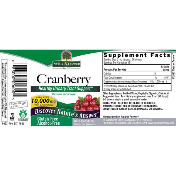 Nature's Answer Cranberry Extract Liquid 1 fl. oz.