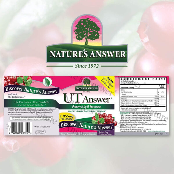 Nature's Answer UT Answer D-Mannose Cranberry 90 Caps