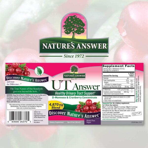 Nature's Answer UT Answer D-Mannose Cranberry Liquid