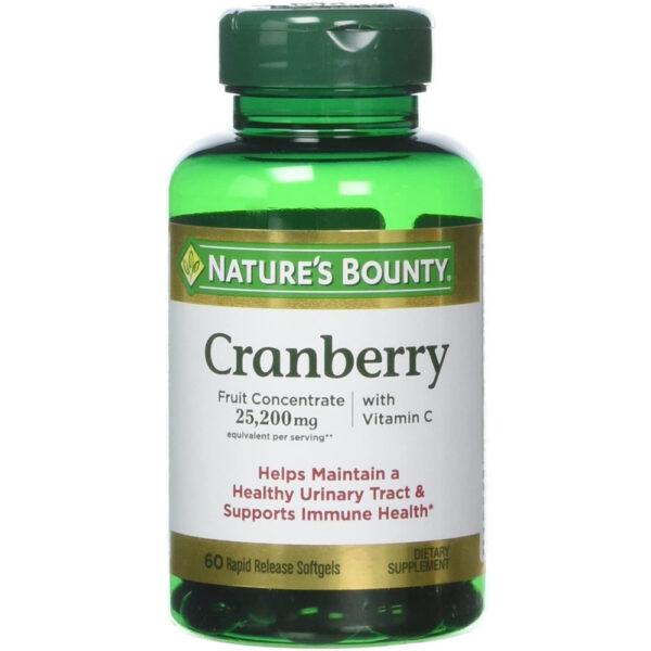 Nature's Bounty Cranberry 25,200 mg 60 Softgels