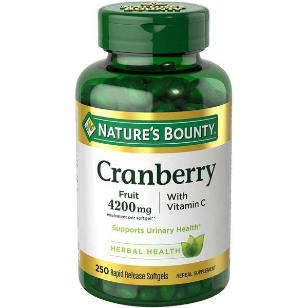 Nature's Bounty Cranberry 4200 mg 120-250 Softgels