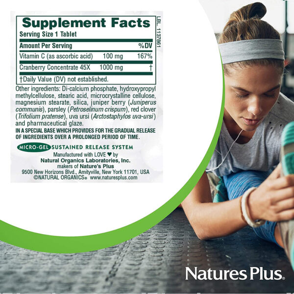 Nature's Plus Ultra Cranberry 1,000 mg 60-90 Tablets