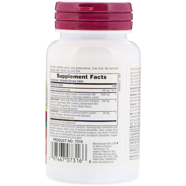 Nature's Plus Ultra Cranberry Extended Release 30 Tabs