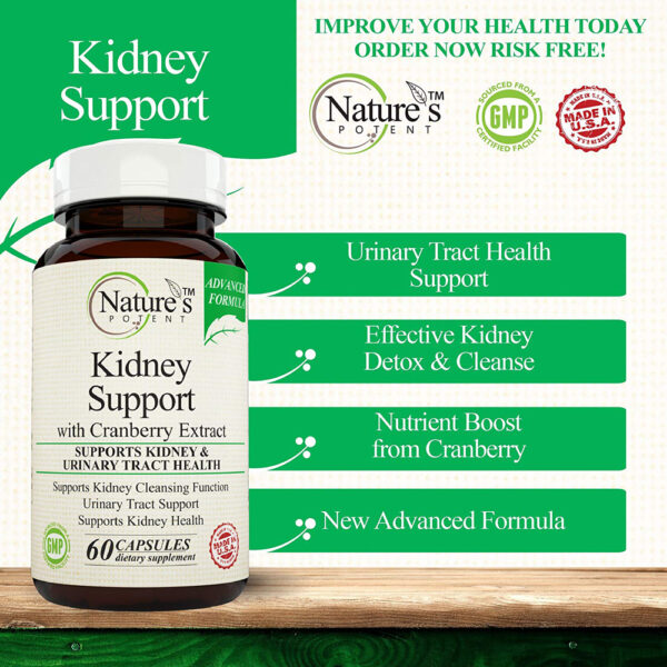 Nature's Potent Kidney Support Cranberry 60 Caps