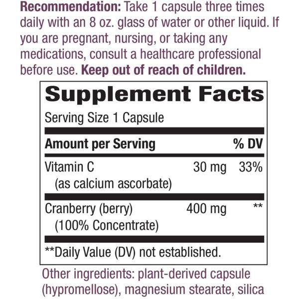 Nature's Way Cranberry w/ Vitamin C 60-120 Capsules