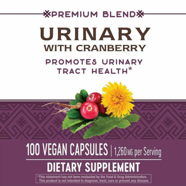 Nature's Way Urinary Cranberry w/ Herbs 100 Capsules