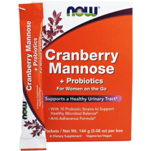 NOW Foods Cranberry Mannose Probiotics Powder 24 Packs