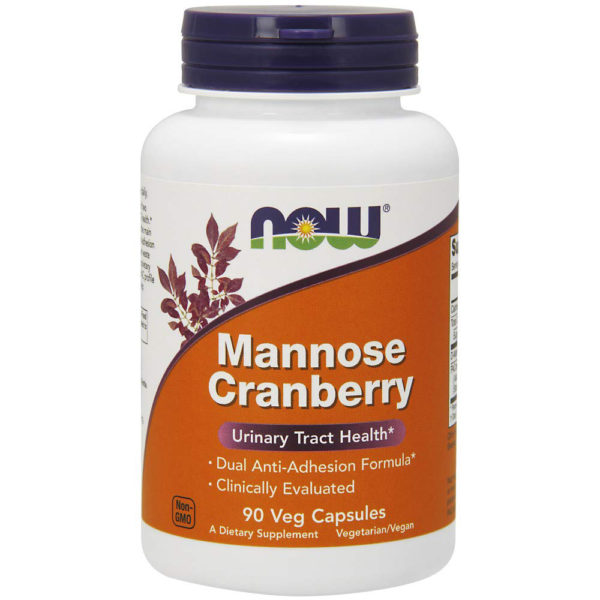 NOW Foods Mannose Cranberry Capsules 90 Veg Caps