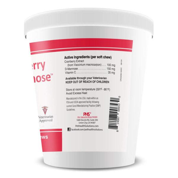 Pet Health Solutions Cranberry D-Mannose 120 Chews