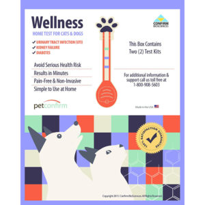 PetConfirm Wellness Home UTI Test Cats, Dogs 2 Tests