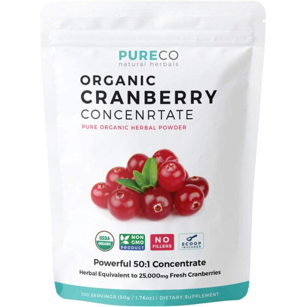 Pure Co Organic Cranberry Powder 50:1 1.76 oz (50 g)