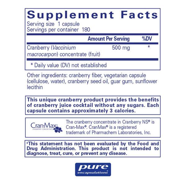 Pure Encapsulations Cranberry NS 90-180 Veg Capsules
