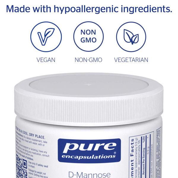 Pure Encapsulations Pure D-Mannose Powder 1.76-3.5 oz
