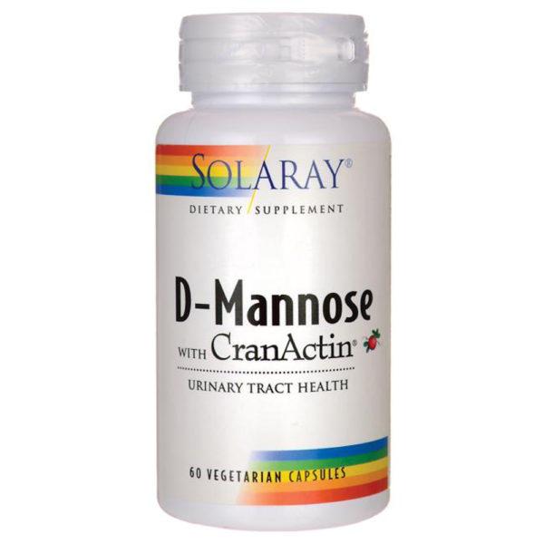 Solaray D-Mannose CranActin Capsules 60-120 Veg Caps