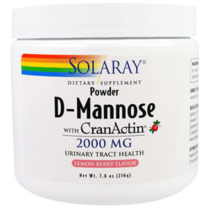 Solaray D-Mannose CranActin Powder Lemon Berry 7.6 oz