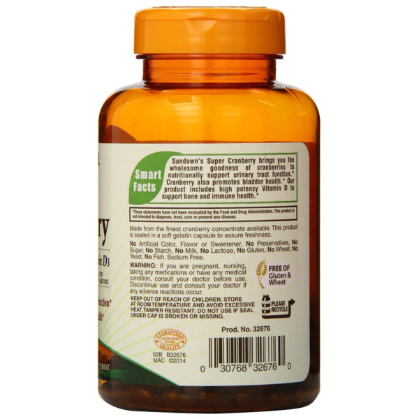 Sundown Naturals Super Cranberry 8400 mg 150 Softgels