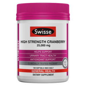Swisse Ultiboost High Strength Cranberry 100 Softgels