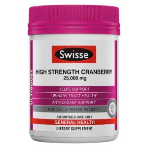 Swisse Ultiboost High Strength Cranberry 100 Softgels