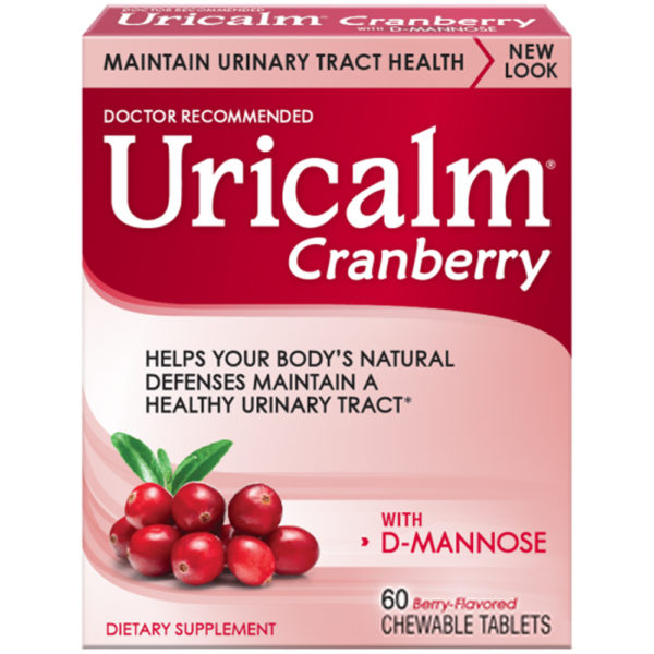 Uricalm Cranberry and D-Mannose 60 Chewable Tablets