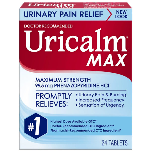 Uricalm Max Strength Urinary Pain Relief 24 Tablets