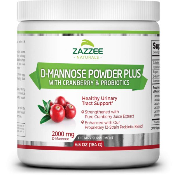 Zazzee Naturals D-Mannose Powder Cranberry Plus 6.5 oz